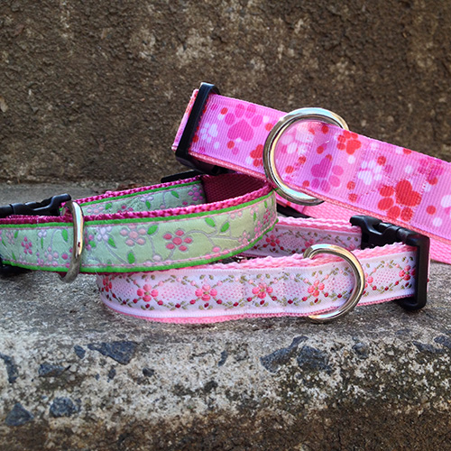 pretty-dog-collars-with-flower-fabric