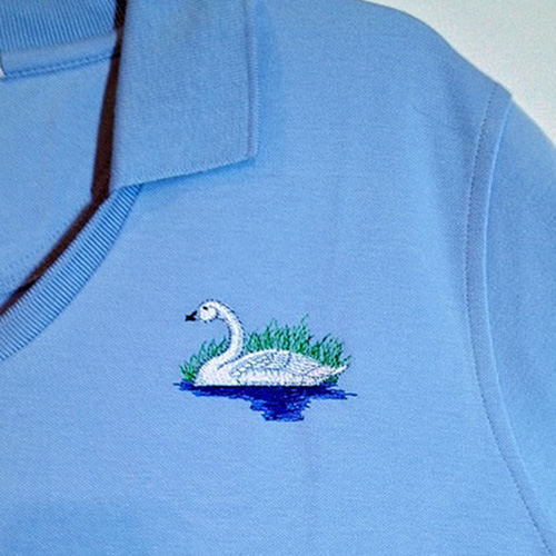 embroidery-symbol-on-shirt-swan