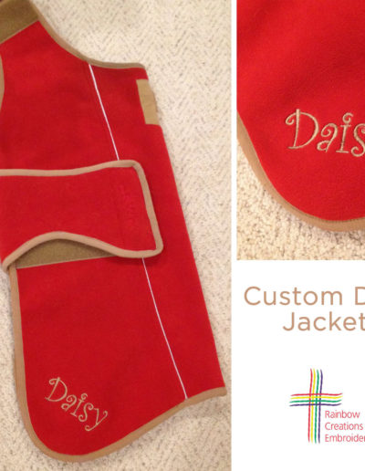 Custom Dog Jacket with Name Embroidered