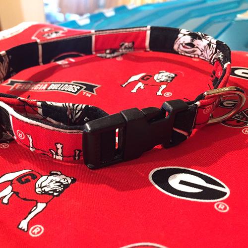 GA Bulldog Dog Collar Custom Size