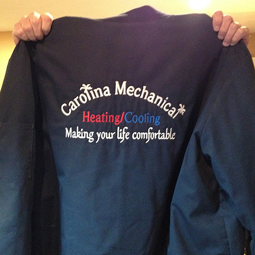 Heating and Cooling Custom Embroidery Employee Jacket